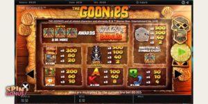 goonies-slot-paytable